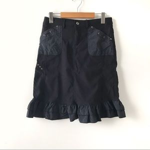 💃🏾 Marie Claire Ruffled Stretch Black Skirt 💃🏾